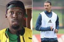 Man Utd fan Usain Bolt greets Zlatan Ibrahimovic with welcome video