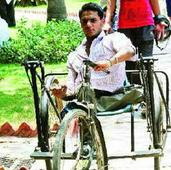 Nashik boy designs tricycle with many special features for disabled
