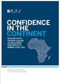 Confidence in the Continent  Research among African opinion leaders