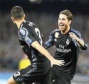 Ramos, Morata strike as Real crush Napoli hopes