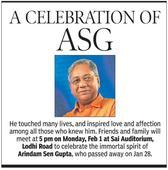 Celebrating Arindam Sen Gupta's life @5pm, at Delhi's Lodhi Road