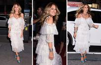 Here comes the bride: SJP is back to her SATC best in this stunning dress