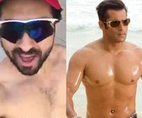 Ayushmann Khurana goes shirtless to wish Salman Khan on 50th birthday (watch video)
