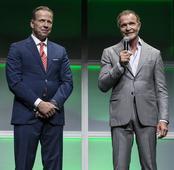 Mark McEwan and Doug Murphy at the 2016 Corus Upfront