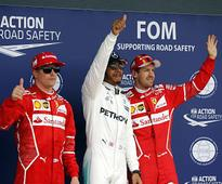 British Grand Prix: Lewis Hamilton clinches pole ahead of Kimi Raikkonen in rain-affected qualifiers