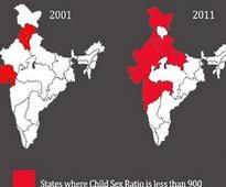 India's disappearing daughters: Child sex ratios continue to plummet all over the country