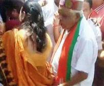 MP home minister, 85, plays touch and ... MP home minister, 85, plays touch and go with woman