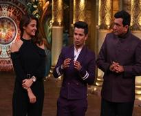 Sanjeev Kapoor, Surveen Chawla and Mudassar Khan in Comedy Nights Bachao Taaza