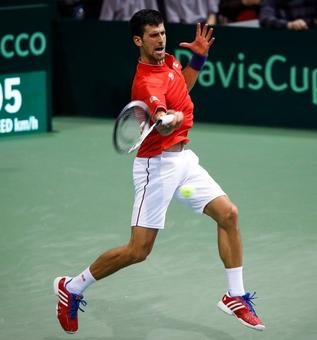 Davis Cup: Djokovic helps Serbia take 2-0 lead over Spain in quarters