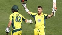 Warner saves Aussies with another ODI ton (AAP)