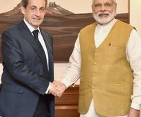 Nicolas Sarkozy meets PM Modi, presses for global action against terror