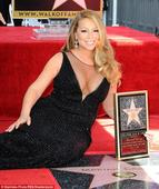 Police hunt vandal who defaced Mariah Carey's Hollywood star with a '?' after NYE meltdown