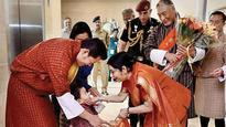 Bhutanese King lands in India on a 4-day tour amid tension over Doklam