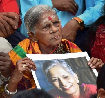 RIP Gauri. We will not let you down