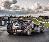 Team Galag joins the 2016 Gumball 3000 rally with Arkham Knight's Batmobile