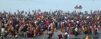 On Makar Sankranti, A Million-plus Take Holy Dip at Ganga Sagar