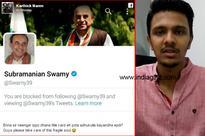 Karthick Naren trolls Subramanian Swamy for blocking him