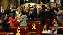 Catalonia's parliament chooses secessionist speaker, call for fugitive ex-leader to rule by Skype