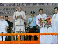 Sarbananda Sonowal takes oath as Assam's CM, with PM in attendance