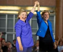 Hillary Clinton, Elizabeth Warren make first campaign appearance together; slam Donald Trump