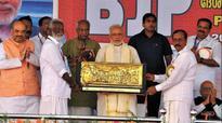 PM Narendra Modi fetes Ex-Jan Sangh leaders
