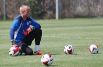 Schmeichel pens five-year Leicester contract Leicester City F.C. goalkeeper Kasper Schmeichel. (AFP / RINGO CHIU) ...