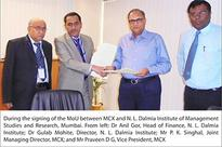 MCX signs MoU with NL Dalmia Institute of Management Studies & Research, Mumbai