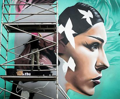 Street artists paint the town at Upfest