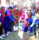 Sat inaugurates development work at Hari Nagar