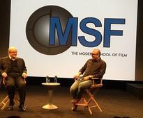 Author Salman Rushdie & Rob Milazzo at the SVA Theatre on April 9, 2016