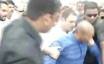 En route to Mandsaur, Rahul hops on to bike to evade police