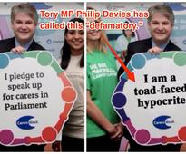 Tory MP Philip Davies is furious after a BBC comedy show branded him a 'toad-faced hypocrite'