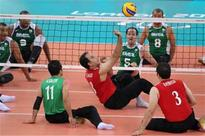 Iran's national sitting volleyball team hits Germany for three times