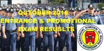 October 2016 (NAPOLCOM) Exam Results List of Passers  PNP Entrance