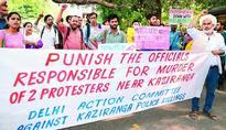 Protest in Delhi over Kaziranga eviction