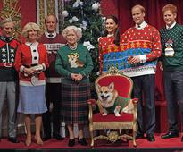 Please enjoy these photos of the 'royal family' wearing ugly Christmas sweaters