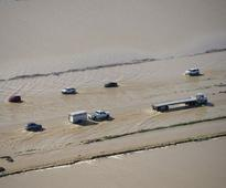 In Pics: After heavy downpour, California braces for a storm