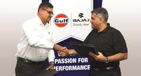 Gulf Oil Lubricants to manufacture motorcycle oil for Bajaj Auto