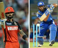 Live IPL 2017, RCB vs MI in Bengaluru, cricket scores and updates: AB de Villiers dropped on 7