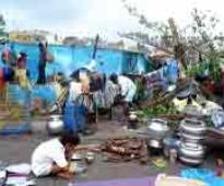 Cyclone death toll 43 in Andhra Pradesh; Naidu leaves for Hyderabad