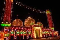 Vendor displaying decorative items as Eid Milad-un-Nabi (PBUH) approaches