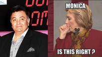 Rishi Kapoor gets flak after sharing a Hillary Clinton-Monica Lewinsky joke on Twitter