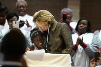 Hillary Clinton shares stage with Zianna Oliphant in Charlotte
