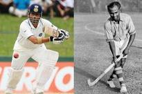 It's Sachin vs Dhyan Chand