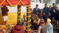 CM laid the foundation stone of Ashta-Chiranjeevi Dham at Nagi dara under 13 Namthang
