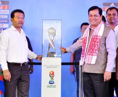 Guwahati unveils FIFA U-17 World Cup trophy, host city logo