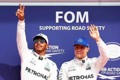 Hamilton equals Schumacher's record with pole at Belgian GP