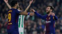 WATCH | La Liga: Brace each for Messi and Suarez as Barcelona extend lead