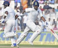 1st Test, Day 4: Fifites by Dhawan, Rahul put India in lead