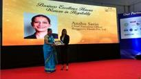 Anshu Sarin bagged the Business Excellence  Woman in Hospitality Award